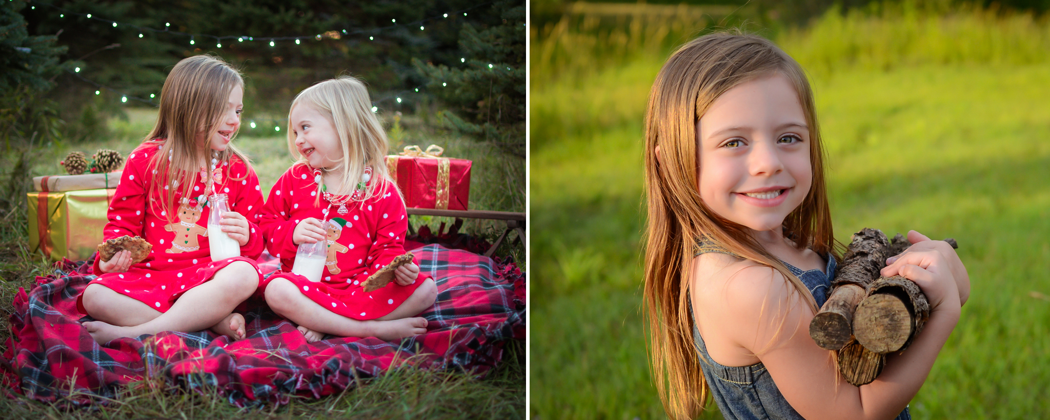 Christmas and camping mini sessions