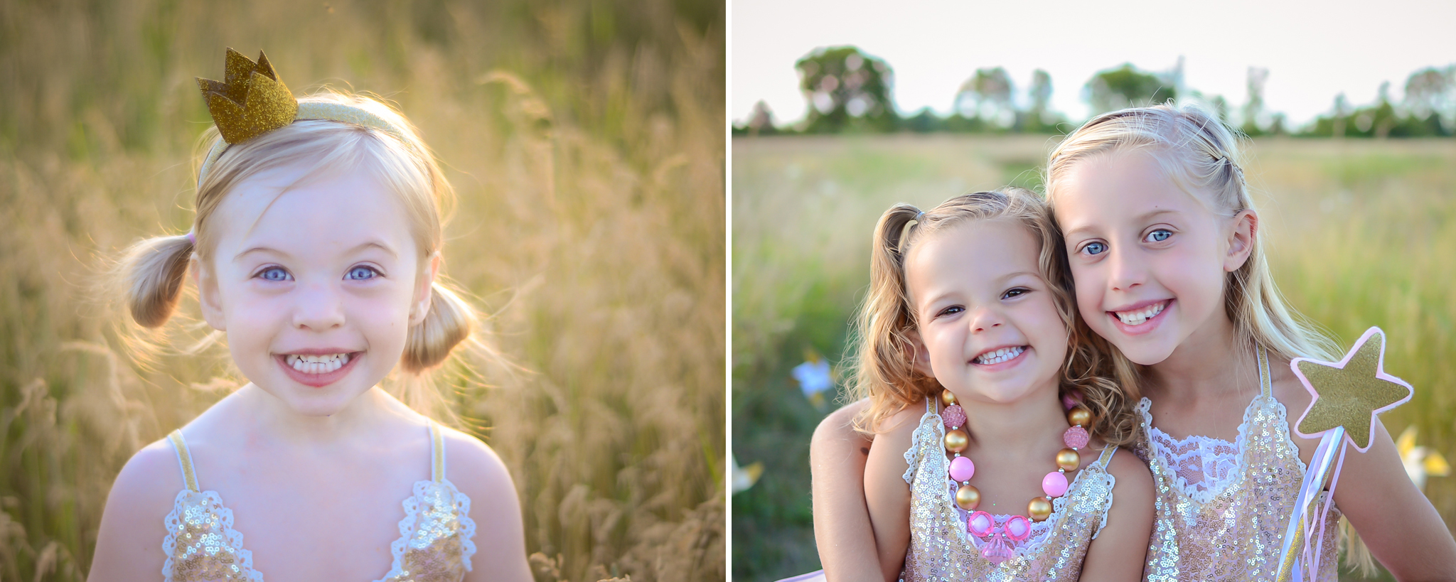 glitter princess mini session