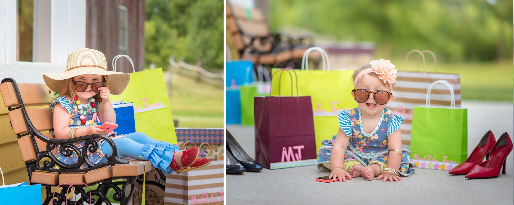 Matilda Jane styled shopping themed mini session