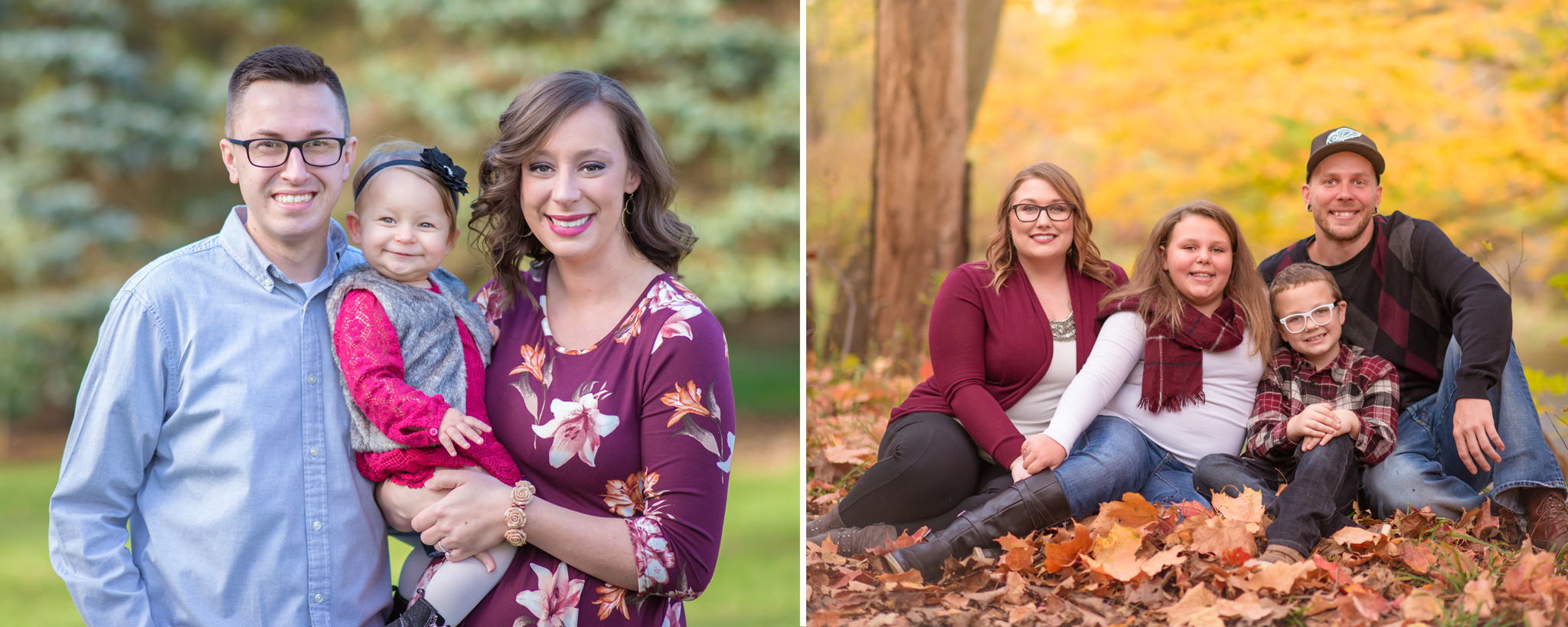 outdoor fall family photo session