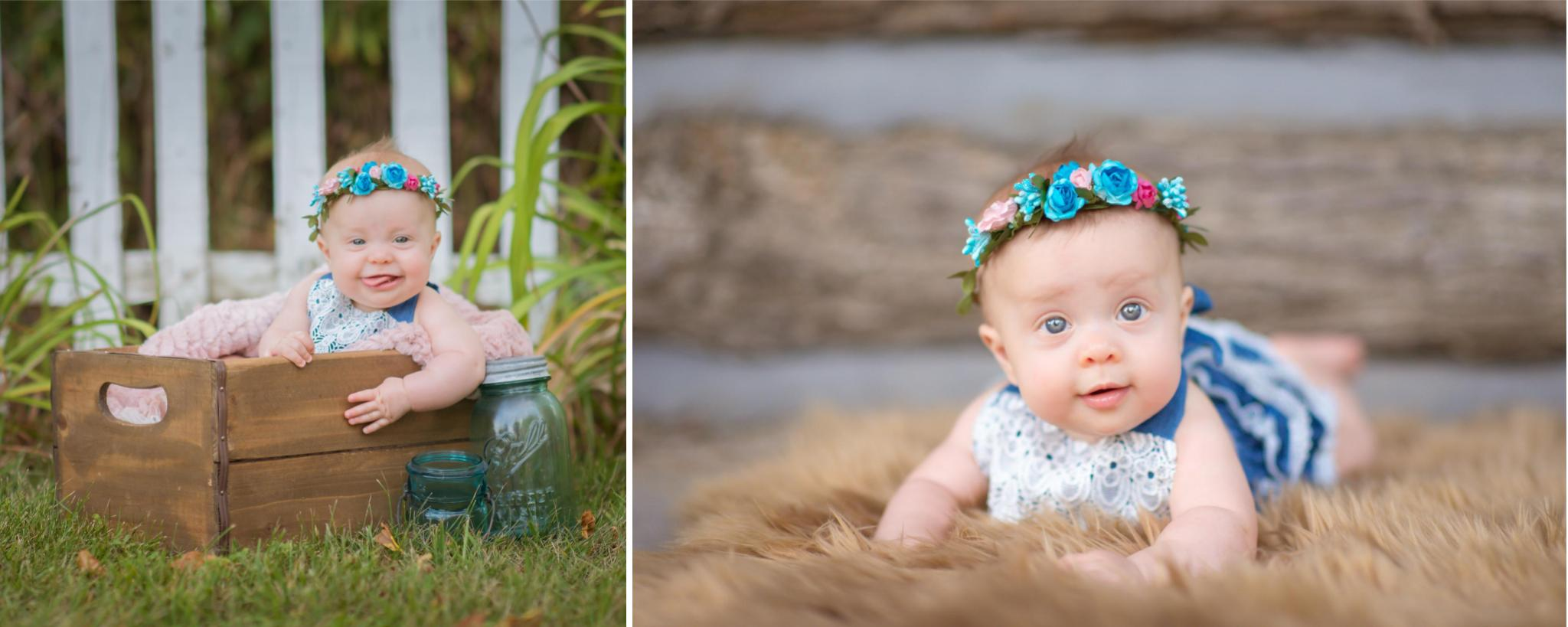 Outdoor 6 month baby girl session