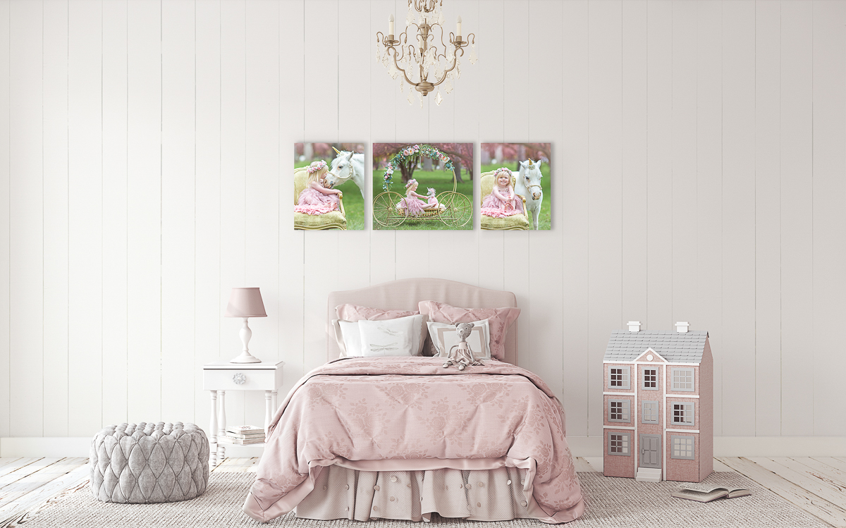 Canvas Gallery in Little Girls Room