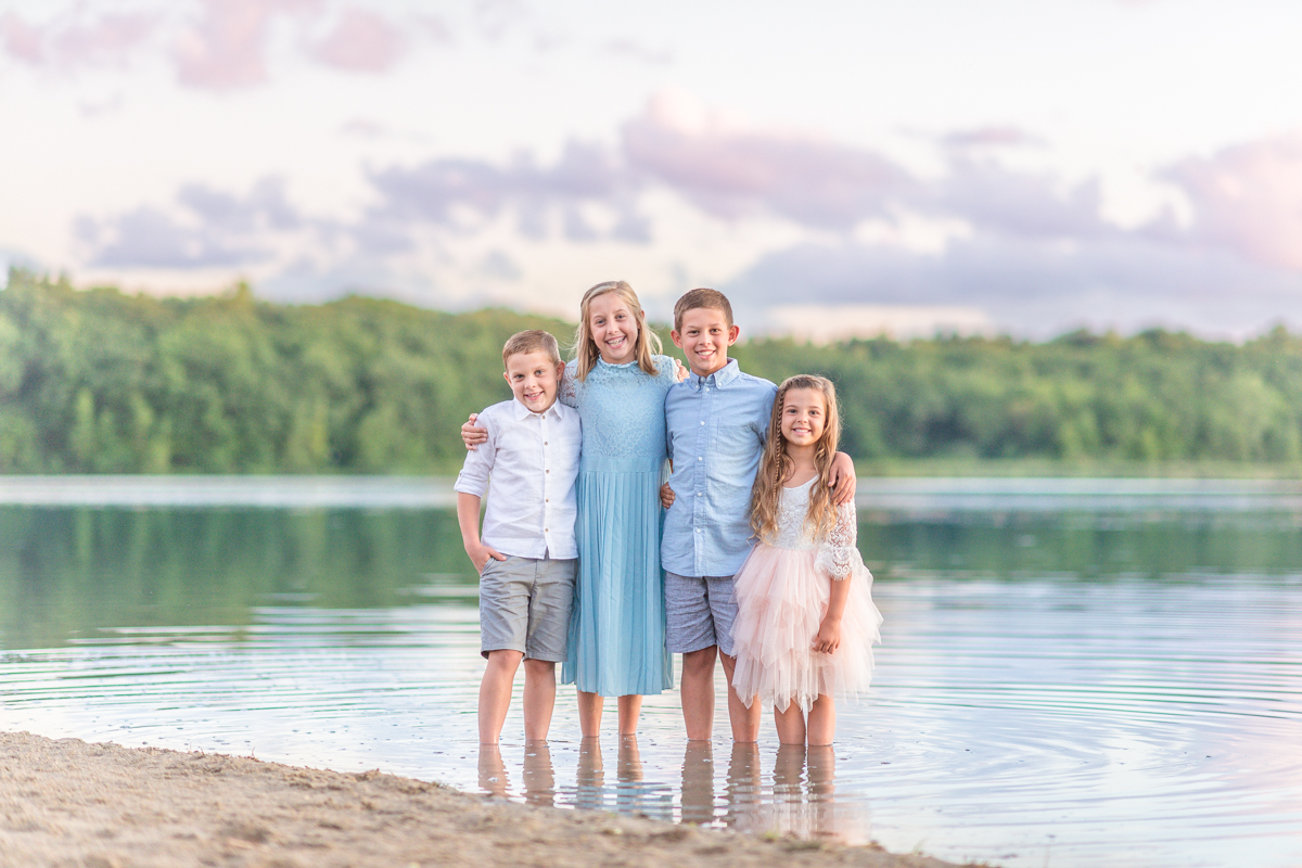 childrens session at the beach