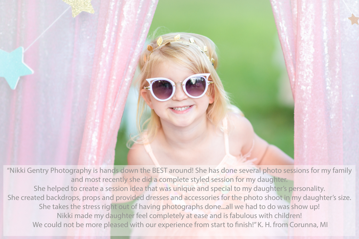 Girl smiling with sunglasses on
